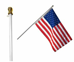 Flag Pole: 6 Foot Tangle Free Spinning Flag Pole. Residential or Commerc... - $62.34+