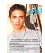 Josh Keaton teen magazine pinup clipping No Authority earring - $2.50