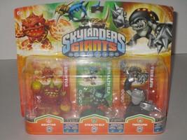 Activision Skylanders Giants 3 Pack ~ Eruptor, Stealth Elf & Terrafin SEALED - $17.09
