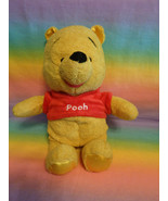 "Disney Original Winnie the Pooh w/ Rattle Red Shirt Soft Plush Toy 11"" - $14.80"