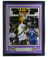 Shaquille O'Neal Signed Framed 16x20 Los Angeles Lakers Dunk Photo PSA/DNA - $277.19