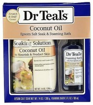 Dr Teal's Coconut Oil Epsom Salt Soak & Foaming Bath 2-Piece Travel Gift... - $15.00