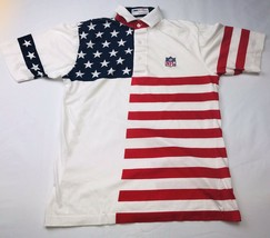 NFL ProShop American Flag Boys Polo Shirt Sz 8 By Antigua 4th Of July Cotton - $19.46