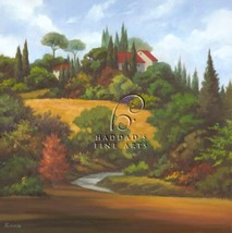 The Road Home by Vivien Rhyan European Tuscan Trees Landscape Canvas Giclee - $345.51