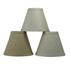 "Urbanest Linen Mini Chandelier Lamp Shade,Clip On,Hardback,3""x6""x5"",3 Colors - $8.99"