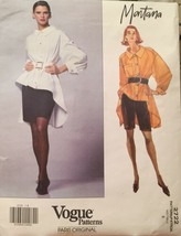 Vogue Paris Original Montana Poet Shirt, Skirt, Shorts Size 8 Pattern 27... - $49.50