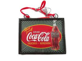 "Coca-Cola  Christmas Ad Sign Ornament- ""Refresh Yourself"" - $7.18"