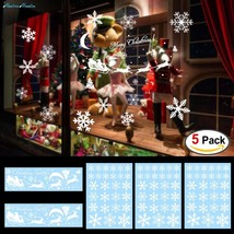 144Designs Snowflake Window Clings Stickers for Christmas Decorations, K... - $15.40