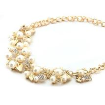 Match-Right Vintage Simulated Pearl Leaves Theme Necklace for Women image 8