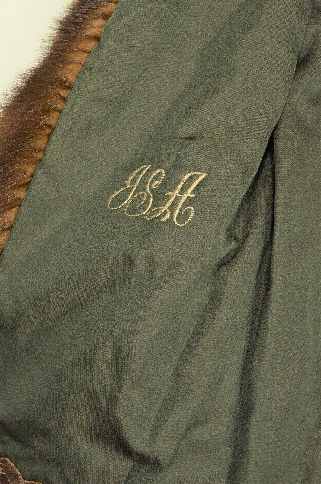 France Olivia mink fur coat FR 44 full length mahogany chic sophisticate brown image 8