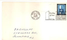United Nations first day cover 5 cents Sep 17, 1962 - $1.99