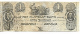 $1 Jersey City New York Franklin Bank Opposite Currency Note Chariot wit... - $61.28