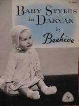 Darvan Beehive Baby Layette Knitting Pattern Booklet - $4.99
