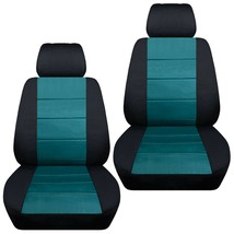 Front set car seat covers fits Chevy Spark  2013-2020   black and teal - $67.89+