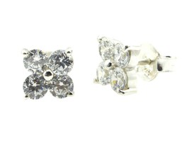 adorable White CZ 925 Sterling Silver White Natural gemstones CA gift - $11.05