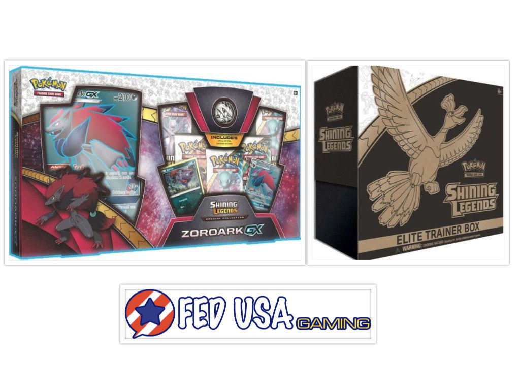 Pokemon TCG Shining Legends Elite Trainer Box + Zoroark GX Collection Box Bundle