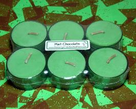 Mint Chocolate PURE SOY Tea Lights (Set of 6) - $5.00
