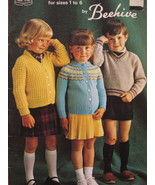 Sweaters Cardigans Knitting Patterns Pre School Children - $4.99