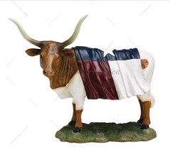 Texas Cow Figure Western Home Office Decoration - $33.81