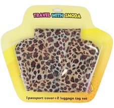 Leopard Design Passport Cover & Two Luggage Tags Set  - $14.36