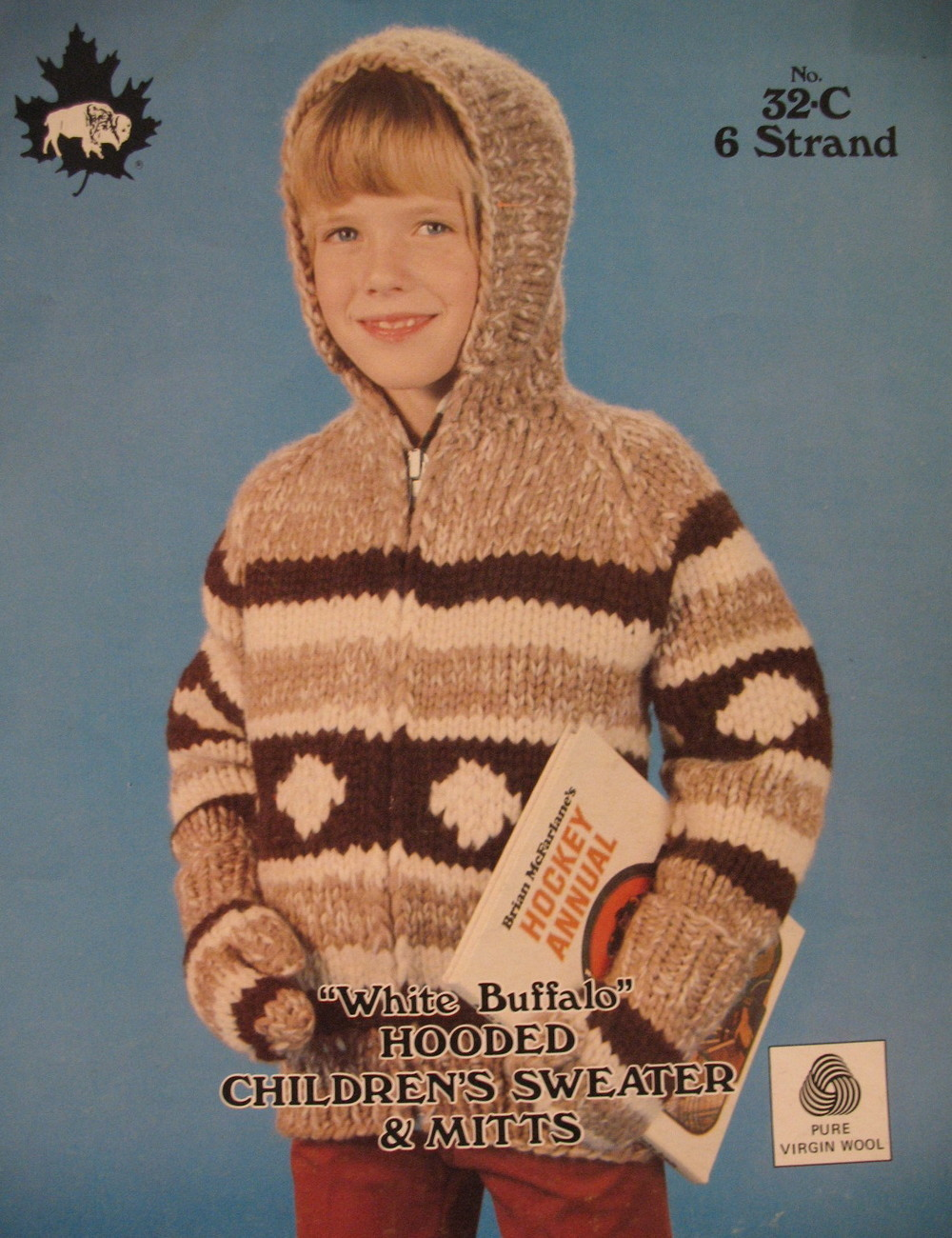 Primary image for White Buffalo Hooded Sweater and Mitts Knitting Pattern