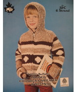 White Buffalo Hooded Sweater and Mitts Knitting Pattern - $6.99