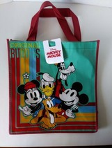 Disney Mickey Mouse & Friends Blue Tote Reusable Shopping Bag Party Gift... - $16.38