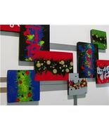 Color Crazed Modern Abstract Wood Metal Wall Sculpture 36X27 - $199.99