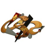 Stylish Contemporary Custom Abstract Art Mirrored Wall Sculpture by A.Ta... - $449.99