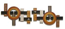 Large 2pc Wooden Contemporary GEOMETRIC abstract art Wall Sculpture OVER 5FT - $425.00
