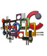 Wild Vibrant Contemporary MoDeRN ABStRaCT Art GeoMetric Wall SCULPTURE w... - $435.00