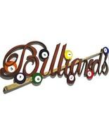 New LARGE Billiards Balls and Cue Stick Wood Wall Art Sculpture 44x20 po... - $399.99