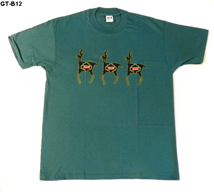 Anvil size xl green tee shirt with design nwot made in usa for Where are anvil shirts made