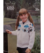 Vintage Haida Sweater Cardigan Knitting Pattern Children - $3.99