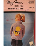 Mary Maxim Baby Chick Sweater Knitting Pattern Children - $4.99