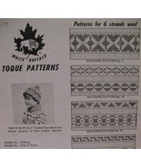 Vintage White Buffalo Knitting Pattern Toque Hat Children - $6.99