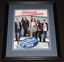 American Idol 2011 Framed 11x14 ORIGINAL Advertisement Jennifer Lopez S ... - $22.55
