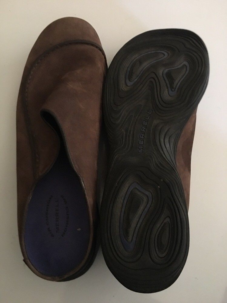 Mens MERRELL Brown Topo Wave Slide Suede Slip on Mocs Clogs Shoes sz 11 M image 10