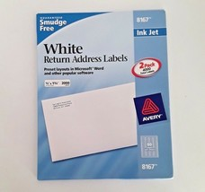 Avery 8167 White Mailing Return Labels 3,280 Count Inkjet .5 x 1.75 - 41 Sheets - $13.85