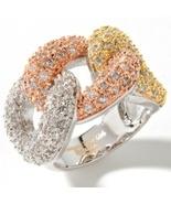 Paula Abdul FYG Sparkling CZ Tricolor Knot Ring... - $25.00