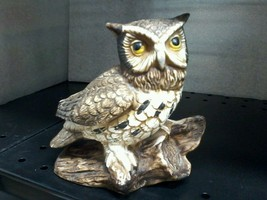Vintage HOMCO Horned Owl Ceramic #1114 Wise Home Interior Decorative Col... - $14.82