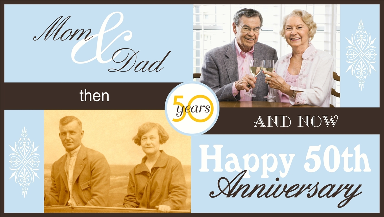 Wedding Anniversary Custom Banner with Photos