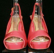 Jessica Simpson 'Barit' coral man made peep toe slingback platform heels 8B image 5