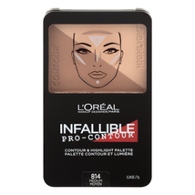 L'oreal Infallible Pro-Contour & Hightlight Palette - 814 Medium  - $5.95