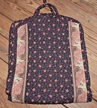 Retired Vera Bradley Brown Paisley & Floral Garment Bag Gently Used Supe... - $40.37