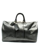 Auth Louis Vuitton Hand Bag Black Louis Vuitton Keepall Zipper Logo LVB0585 - $731.61