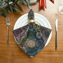 Table Napkin Ancient Floral Mandala Tribal Style Coffee Napkins 20 X 20 ... - $29.99