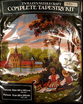 Twilleys Needlecraft Tapestry Kit 821 Young Couple Church Round Scene 16... - $45.94