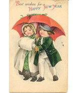 Best Wishes For A New Year Ellen Clapsaddle Post Card  - $6.00
