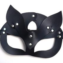 Women Mask Sexy Half Eyes Cosplay Face Cat Leather Mask Costume Masquerade Ball  image 2